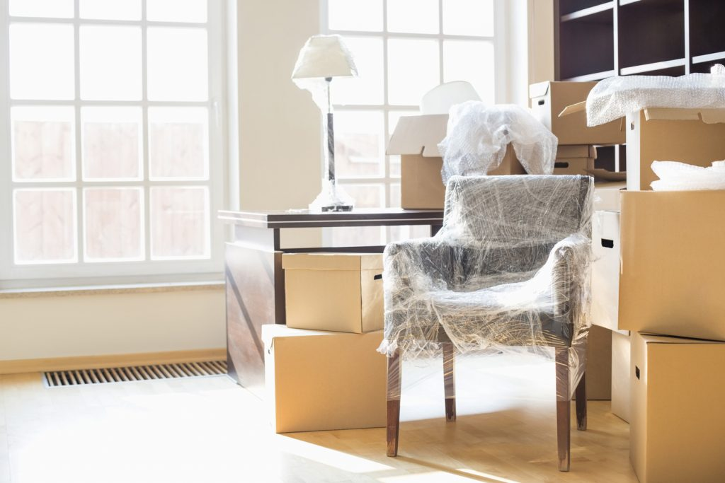 Wrapped and packaged furniture